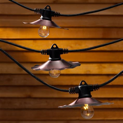 how long of a light string for a 6 ft christmas tree string lights with copper shades and 7 light bulbs 35ft ebay
