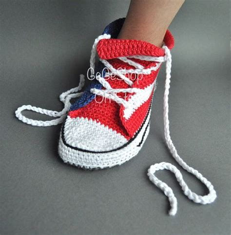 converse house slippers man slippers crochet man shoes crochet converse house shoes s