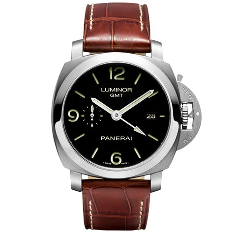 Luminor Panerai Gmt Leather officine panerai luminor 1950 3 days gmt automatic s