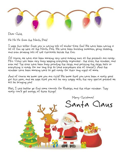 free printable personalised letter from santa template 25 best ideas about free letters from santa on pinterest