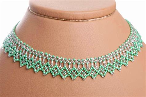 free tutorial beaded necklace pattern 1 images frompo