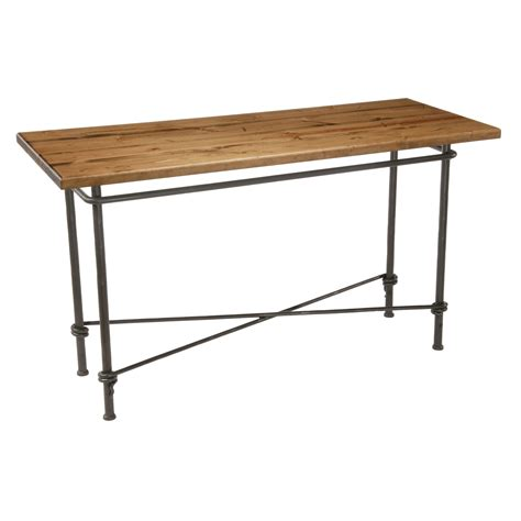 wrought iron console table ranch console table