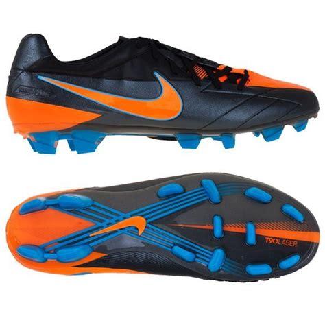 Sepatu Bola Nike T90 Laser Iv Kl Nike Total90 Laser Iv Kl Fg Black Orange Blue Www Unisportstore