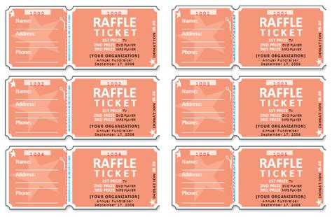 raffle ticket design template raffle ticket templates make your own raffle tickets