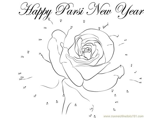 new year join the dots parsi new year gift dot to dot printable worksheet