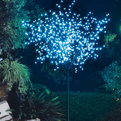 bunnings cherry blossom lytworx 2 5m 600 blue led light up blossom tree bunnings warehouse