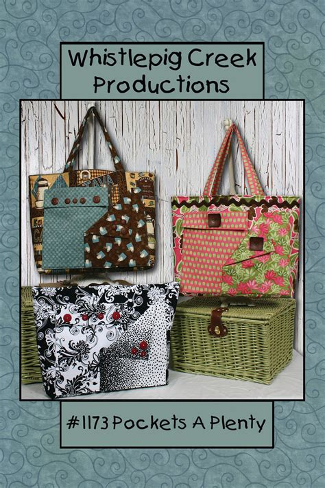 tote bag pattern with outside pockets pockets a plenty tote bag sewing pattern