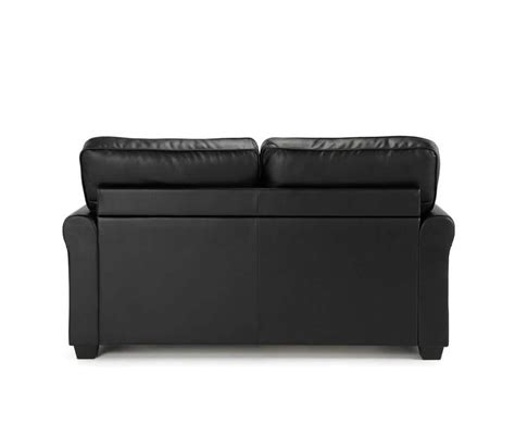 4ft Sofa Beds Naples 112cm Black Faux Leather Sofa Bed Just 4ft Beds
