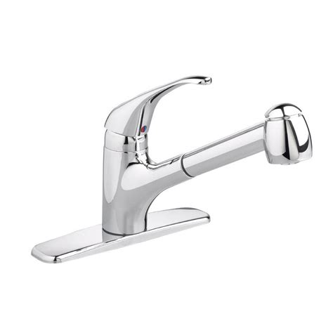 american standard reliant kitchen faucet pull out sprayer kitchen faucets the home depot