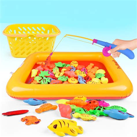 New Happy Birthday Fishing Toys No 20117 Mainan Pancingan Ikan 50 pieces set magnetic magnet fishing toys simulation fish pond fishing pole children