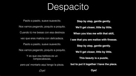 despacito with english lyrics despacito with english translation youtube