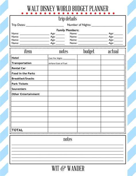 printable disney world planner 7 best images of walt disney world printables disney