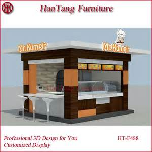 Best Selling House Plans by Street Wood Outdoor Kiosk For Food Snack Coffee Ice Cream