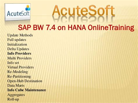 sap wad tutorial sap bw 7 4 on hana online training