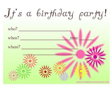 Birthday Card Invitations Free Birthday Invitation Cards At Invitations And More Com