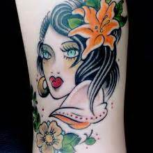 the painted lady tattoo dawnii fantana colour big planet