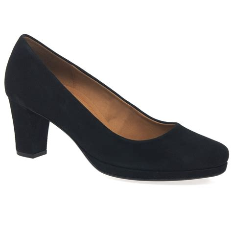 wide fit shoes gabor ella suede court shoes charles clinkard