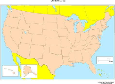 map from united states united states blank map