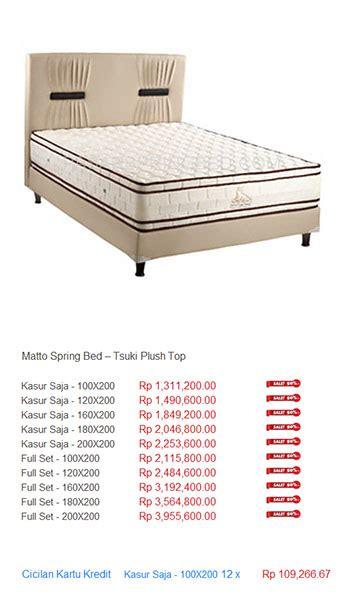 Kasur Bigland Nomor 1 harga matto bed harga bed termurah di