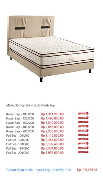 Kasur Bed No 1 Bandung harga matto bed harga bed termurah di
