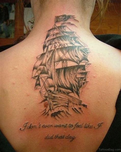 pirate ship tattoo 51 classic ship tattoos on back