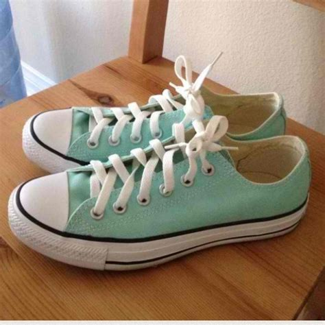 55 converse shoes mint colored converse chucks from
