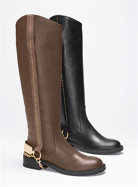 S Secret Studded Boot In Brown Taupe Lyst