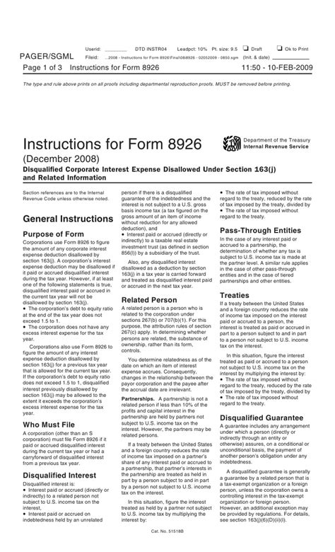 section 163 j inst 8926 instructions for form 8926 disqualified