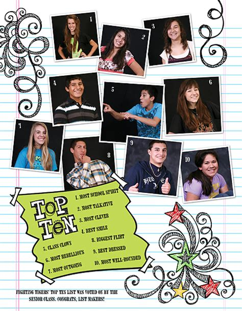 yearbook superlatives layout yearbook design inspiration pictavo
