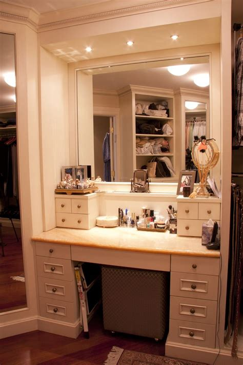 Vanity In Bedroom Master Walk In Closet Make Up Table Closet Pinterest Vanities Walk In And Makeup Tables