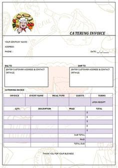 Catering Invoice Template 2 Catering Invoice Templates Pinterest Catering Templates Free Buffet Contract Template