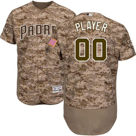 san diego padres majestic alternate flex base authentic collection custom jersey camo