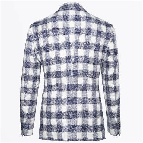 samsoe mira blue pattern jacket tagliatore big check blazer blue mr mrs stitch