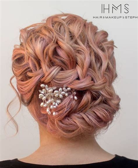 braids that lead into a ponytail 20 soft and sweet wedding hairstyles for curly hair 2018