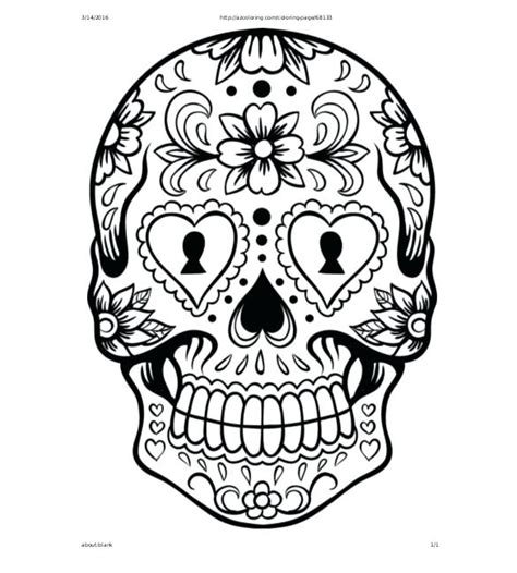 sugar skull coloring pages pdf free download sugar skull drawing template adorable free day of the dead