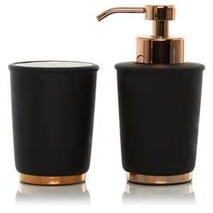 Copper Bathroom Accessories George Home Black Copper Bathroom Accessories Bathroom Accessories George At Asda