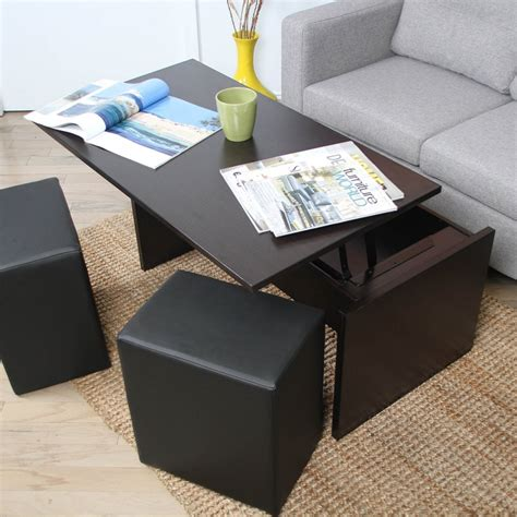 coffee tables with ottomans underneath best coffee table with ottomans underneath bitdigest