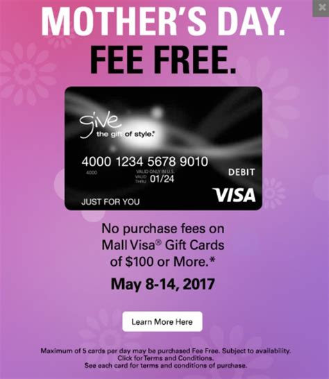 Visa Gift Cards No Fee To Purchase - fee free visa gift cards at macerich malls frequent miler