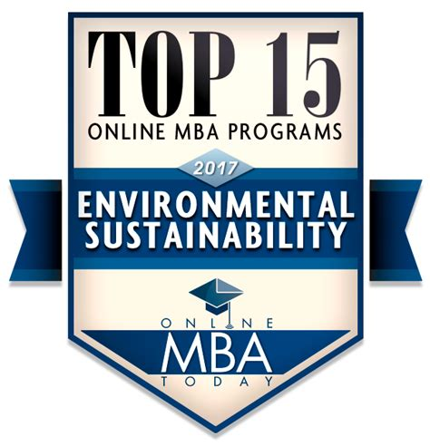 Mba Environmental Sustainability by Guide To Mbas In Environmental Sustainability