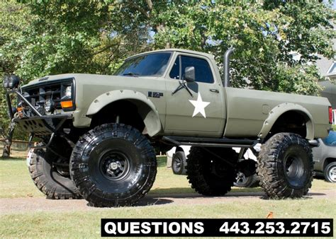 dodge mud truck 1989 dodge ram 2500 mud truck monster truck for sale