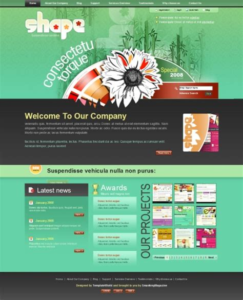 50 High Quality Free Psd Web Templates High Quality Website Templates