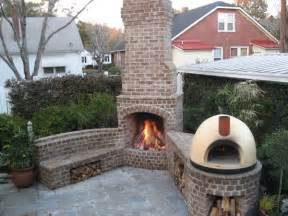 brick outdoor fireplace patios outdoor fireplaces kitchens and patios in