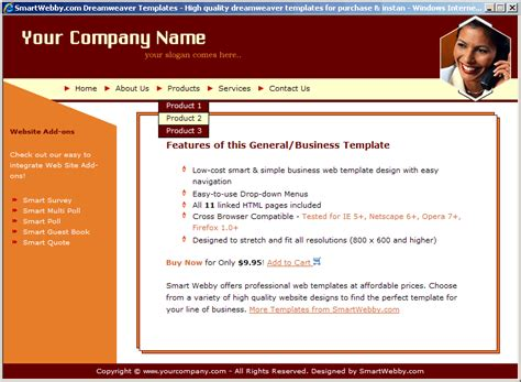 Simple Low Cost Template Webpage Template Html