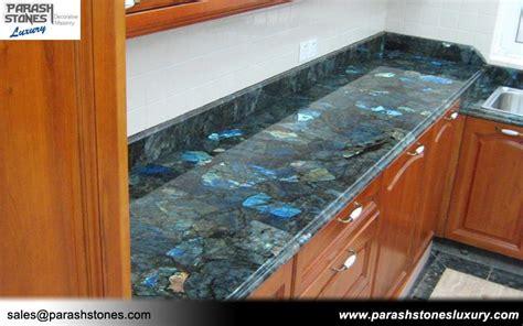 Lapis Granite Countertop by Semi Precious Slab Furniture Wholesale Price