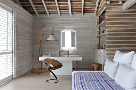 summer interior wooden summer house design with natural furniture and