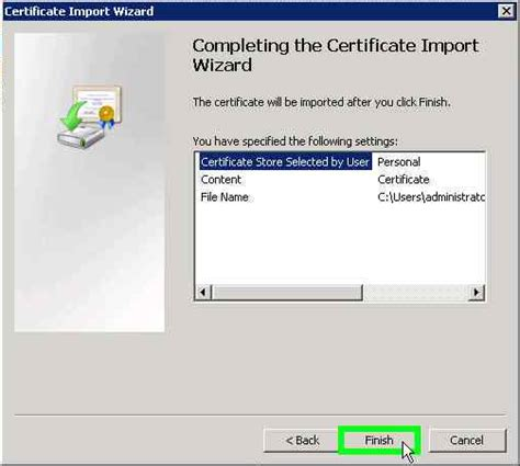 microsoft management console create a certificate request using microsoft management