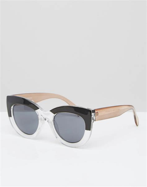 Chunky Frame Sunglasses asos asos cat eye sunglasses in chunky frame and mono