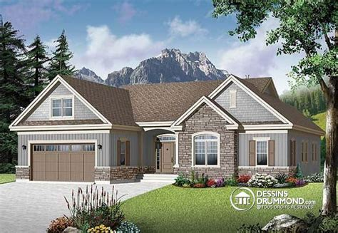 1 Story Open Floor House Plans by D 233 Tail Du Plan De Maison Unifamiliale W3226 V2
