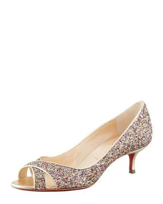 are christian louboutin shoes comfortable croisette orlato crisscross glitter red sole pump by