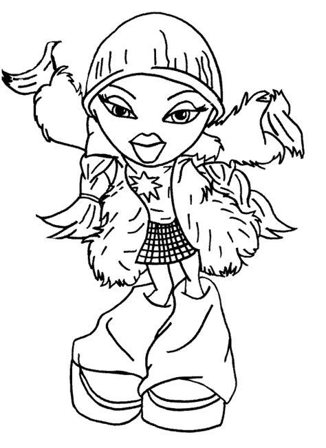 bratz coloring pages pdf bratz doll coloring pages printable free bratz cartoon